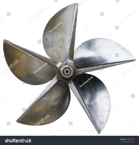 boat propeller value a front view of a propeller of a boat stock photo