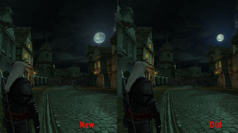 mod game hd comparison image the witcher realistic moon hd mod for