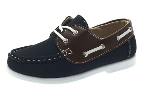 loafers for boy boys boat deck shoes slip on lace up loafers casual