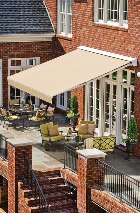 solair retractable awnings the cool elegance of shade traditional home
