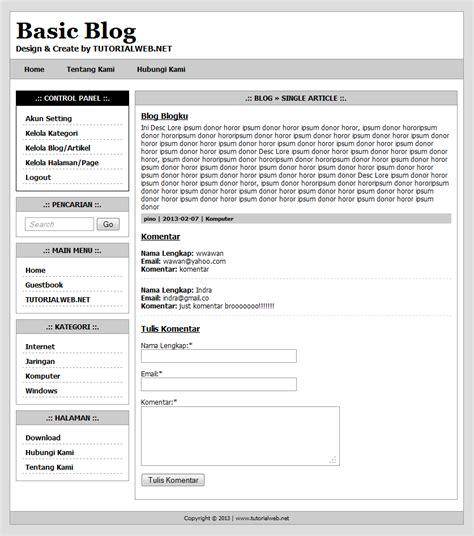 tutorial web net source code basic blog dengan php dan mysql freebies