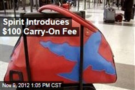 carry on fee spirit airlines news stories about spirit airlines