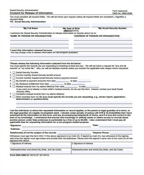 consent to release information form template release form templates