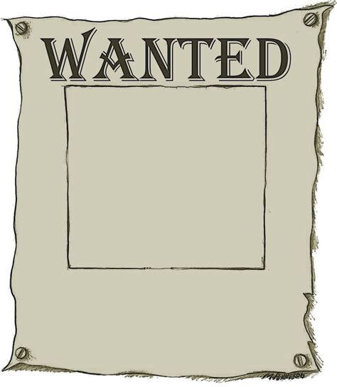 wanted poster with border ppt backgrounds wanted poster