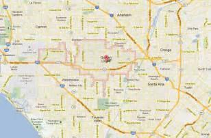 garden grove california map
