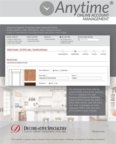Decoreative Specialties by Design Order Frameless Rta Cabinetry Woodworking