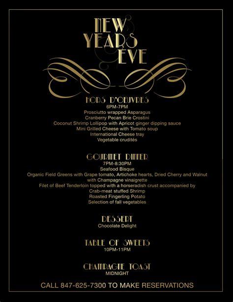 menu for new year 2016 illinois new years menu 2016 illinois resort