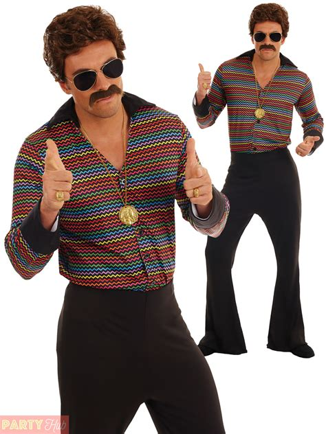 adults disco fever costume mens 1970s fancy