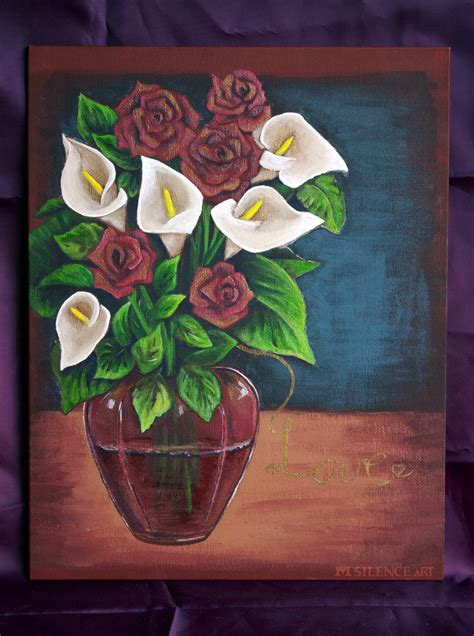 Vase Paintings by Flower Vase Painting By Msilenceart On Deviantart