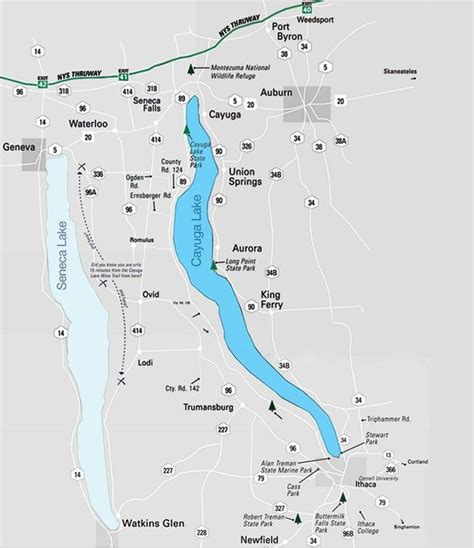 cayuga lake wine trail map this is a tourist trail map covering the cayuga lake wine