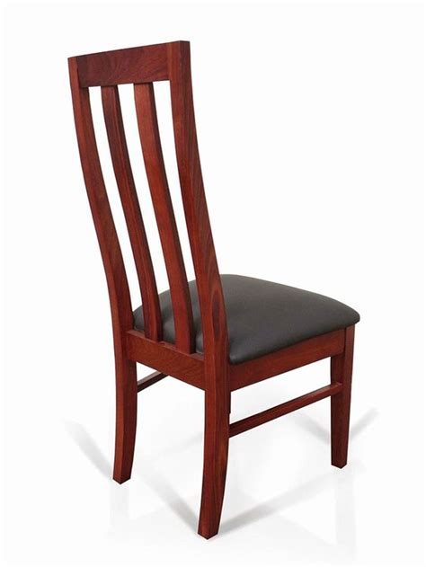 jarrah timber dining chair no 1 high back timber wooden ebay