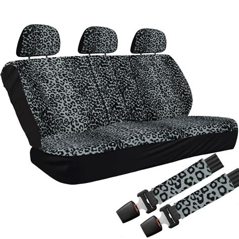Car Mats And Seat Covers by 21pc Car Seat Cover Gray Leopard Cheetah Animal Design