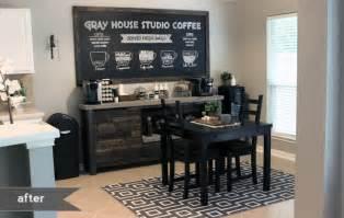 Living Room Coffee House Menu Diy Coffee Bar Gray House Studio