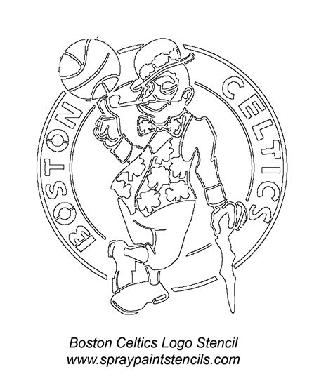 boston celtics free colouring pages
