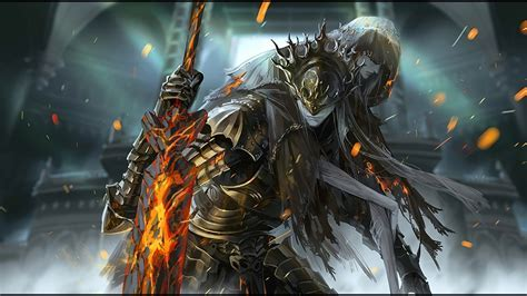 Wallpaper Dark Souls 3, Lorian, Lothric, Artwork, Boss