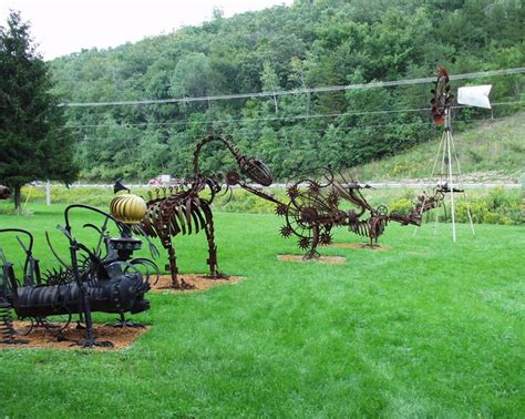 scrap metal yard art by wally keller near mt horeb