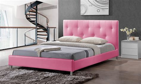 pink bed headboard tufted pink beds or bedroom furniture groupon