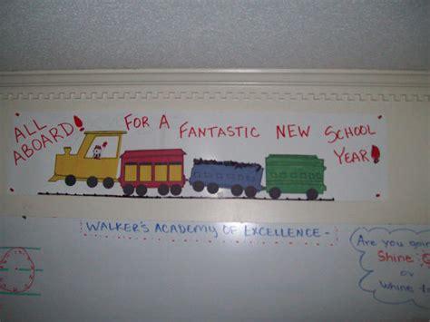 new school year bulletin board ideas all aboard bulletin board idea