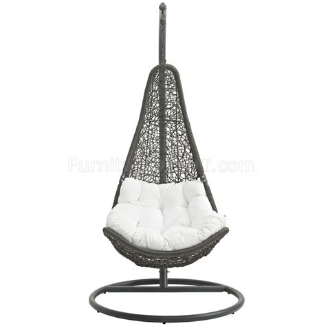 outdoor patio swing chair abate outdoor patio swing chair in gray white by modway