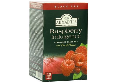 Ahmad Tea Raspberry Indulgence 40g Flavoured Black Tea 20 Tea Bag ahmad black tea raspberry indulgence fruit box 40 grams