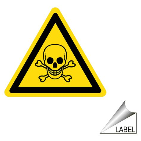 poison symbol label label triangle 08 chemical