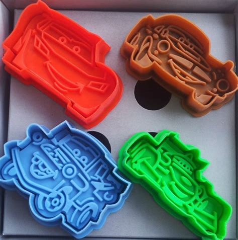 3d Biscuit Mold Cookie Cutter Press 6 4pcs lot 3d cars shape cookie cutters cookies mold fondant cutter biscuit mould cutter styling