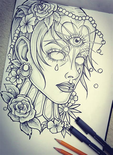 tattoo design sketchbook sketch by loodlez on deviantart