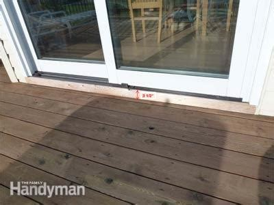 Patio Door Installation Diy by How To Build A Deck Prevent Rot At The Patio Door The