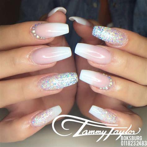 Faded Nail Design fade nails crystals tammytaylor o u r n a i l