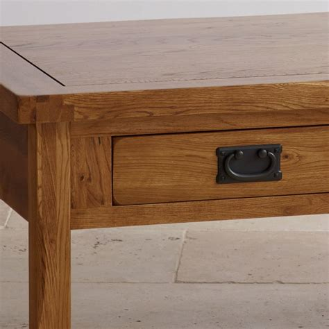 original coffee table original rustic 4 drawer coffee table in solid oak
