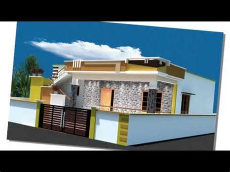 Kerala House Single Floor Plans With Elevations by Front Elevation Design For House Youtube