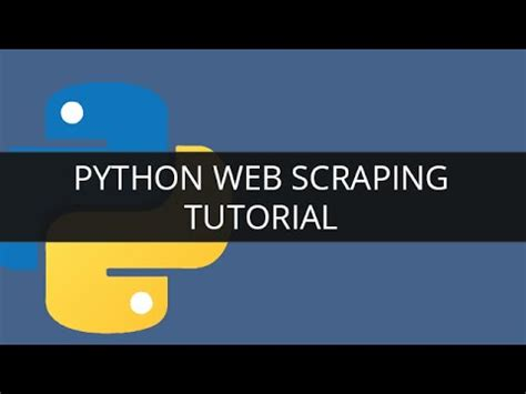 tutorial on web scraping python web scraping tutorial 1 python beautifulsoup