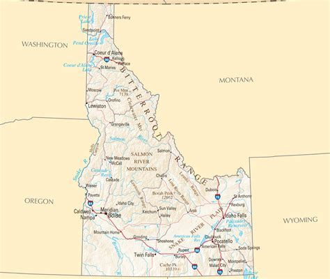 idaho map with cities idaho map blank political idaho map with cities
