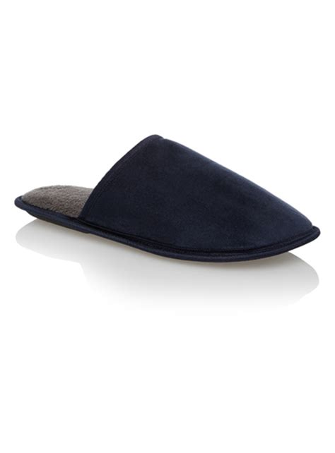 sainsburys childrens slippers mens navy suede slippers tu clothing