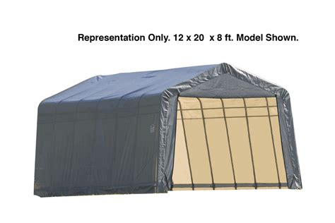 portable awnings for cing shelterlogic 12 x 28 x 10 peak style portable garage