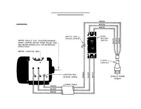 single phase motor wiring diagram for a switch free