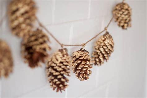 pine cone diy diy gold leaf pine cone garland the sweetest occasion the sweetest occasion
