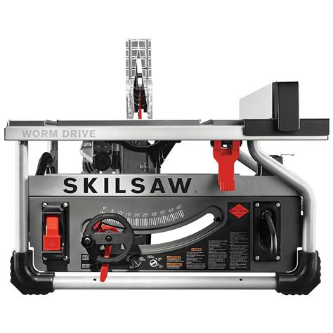 home depot portable table saw skilsaw 15 corded electric 10 in portable worm drive