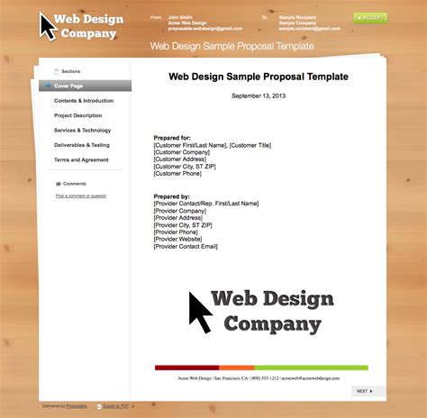 website design proposal exle business proposal templates the proposable blog