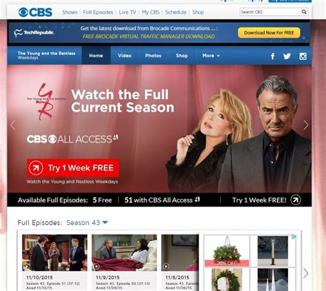 watch cbs young and restless how to watch the young the restless streaming online for