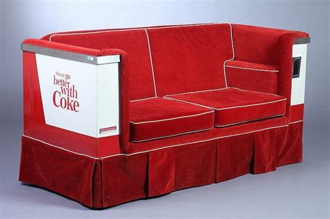 cooler couch vintage coca cola advertising cooler couch 1963