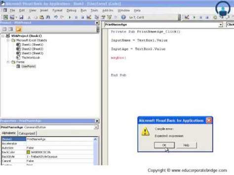 excel visual basic tutorial youtube vba userform controls excel vba visual basic tutorials