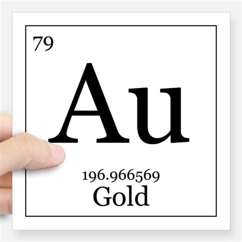 Periodic Table Gold by Periodic Table Gold Stickers Periodic Table Gold Sticker
