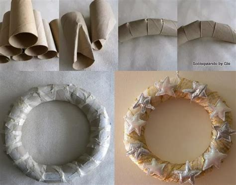 trouble finding  cheap wreathdiy wreath form   toilet paper rolls