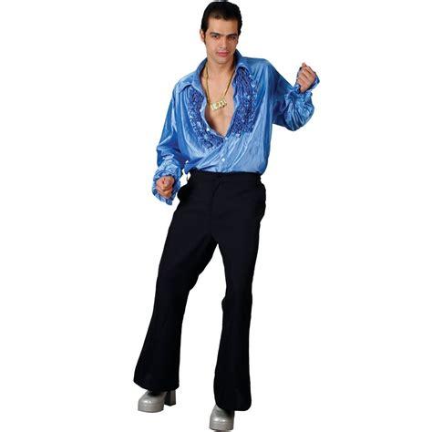 mens 1970 s disco shirt flares saturday fever 70 s