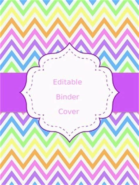 printable lesson plan binder cover free chevron binder cover editable preschool teacher