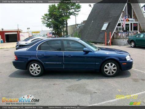 2005 Kia Optima Lx 2005 Kia Optima Lx V6 Imperial Blue Gray Photo 1