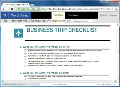Free Trip Planner Templates For Word Business Travel Planning Checklist Template