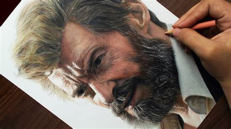 desenhando  logan wolverine hugh jackman youtube