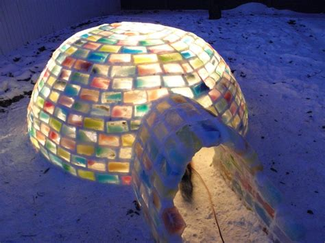 Nice Backyards by Man Builds Amazing Igloo Using Frozen Milk Cartons